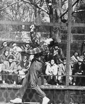 Dick Hebard in action at Fox Meadow Tennis Club, Scarsdale, NY