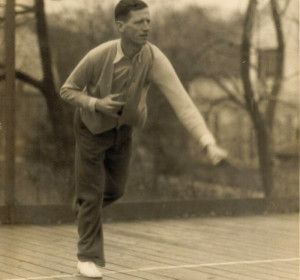 Earle Gatchell on first court.
