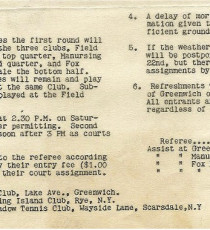 Arrangements regarding the 1936 Nationals. The entry fee was one dollar per person.