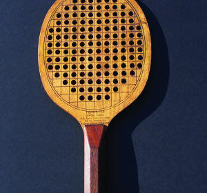 The more oval version of the original paddle with holes added but no protective rim.