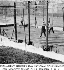 Final of Men's National Championship 1940, Fox Meadow Tennis Club, Scarsdale, NY