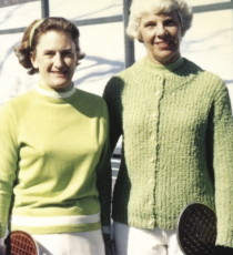 Peggy Stanton (left) and long-time partner Charlotte Lee.