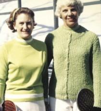 Peggy Stanton (left) and long-time partner Charlotte Lee.