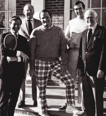 The Cleveland Invitational directors in 1973 (from left to right): David S. Dickenson II, Richard Taylor, Willis M. McFarlane, Carrington Clark, Jr., and Robert Bartholemew. (Missing from photo: John J. Bernet and John F. Turben)