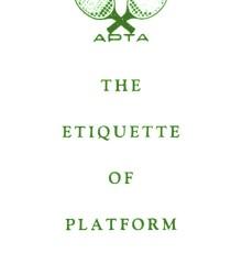The Etiquette of Platform Tennis