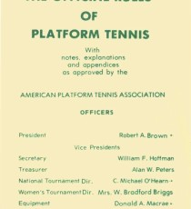 The Official Rules of Platform Tennis published